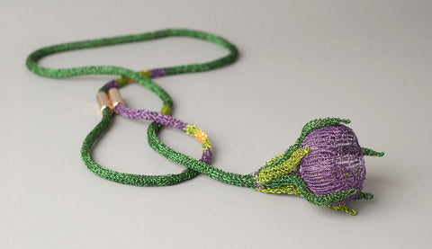 organic wire crochet necklace