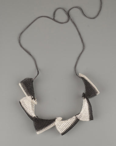 black wire crochet necklace by YoolaDesign