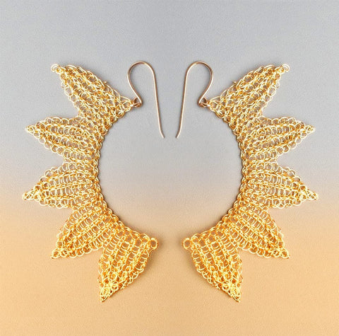 angel wings earrings yooladesign