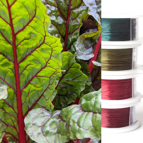 beet leaves - wire colors - wire crochet - YoolaDesign