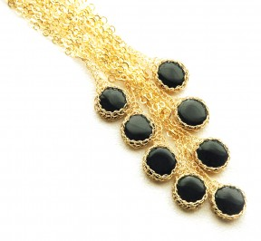 onyx wire crochet pendant necklaces
