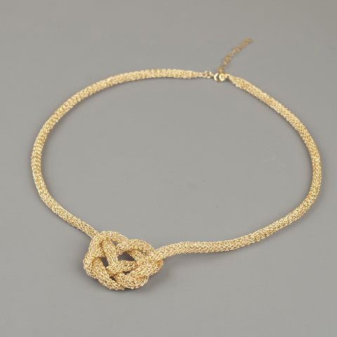 gold celtic heart knot necklace