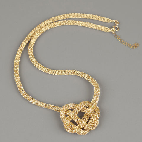 bold celtic heart knot necklace