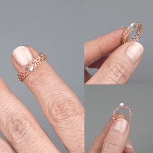 wire crochet jewelry, rings