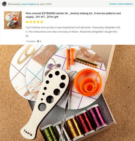 wire crochet kit customer review