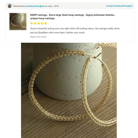 wire crochet gold hoop earrings customer review