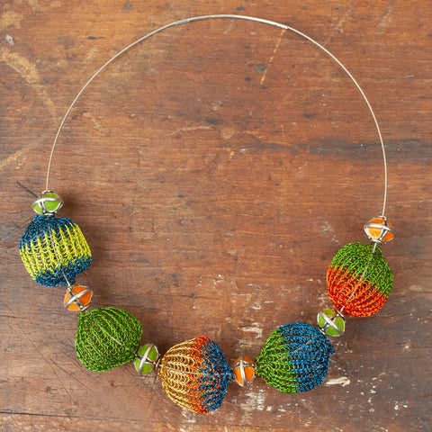 wire crochet ball beads