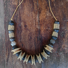 wire crochet african necklace