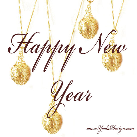 happy new year jewelry wire crochet
