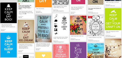 keep calm pinterest board