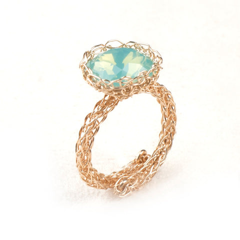 Wire Crochet Adjustable Cocktail ring