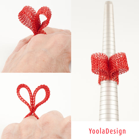 statement ring - red heart ring