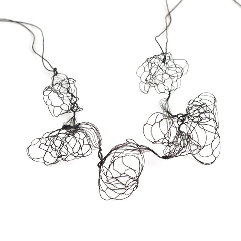black wire necklace by YoolaDesign
