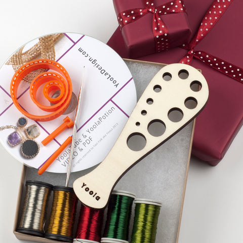 gift box DIY wire crochet jewelry