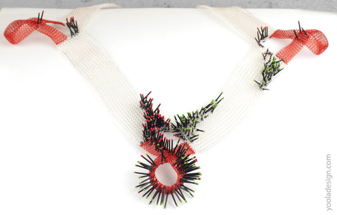 square statement collar necklace rotated
