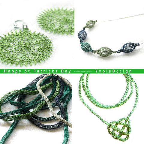 St Patrick Wire crochet Jewelry