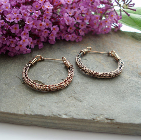 https://www.etsy.com/listing/203496077/viking-knit-hoop-earrings-bronze