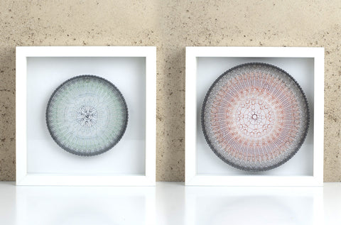 Round Wall art in a frame