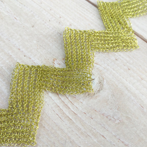 wire crochet zig zag bracelet how to