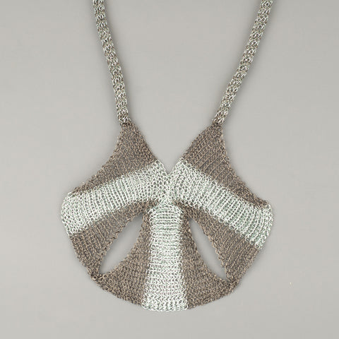 Wire crochet statement necklace - Yooladesign