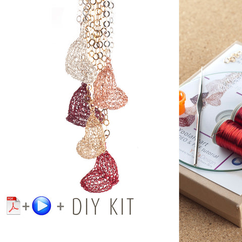 How to wire crochet a volume heart - DIY kit - Yooladesign