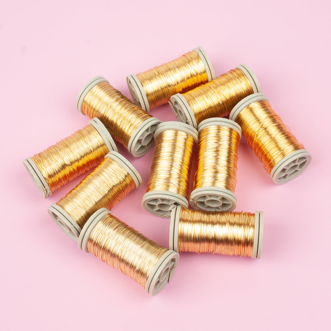 SALE ! 10 spools of 65 feet coated copper wire spools, limited stock ! - Yooladesign