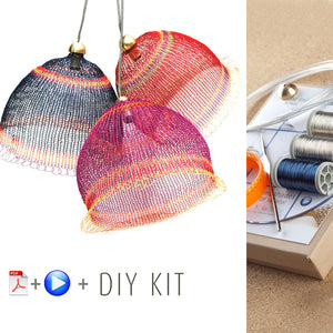 Wire crochet Lampshades kit , video tutorial , supply and tools - Yooladesign