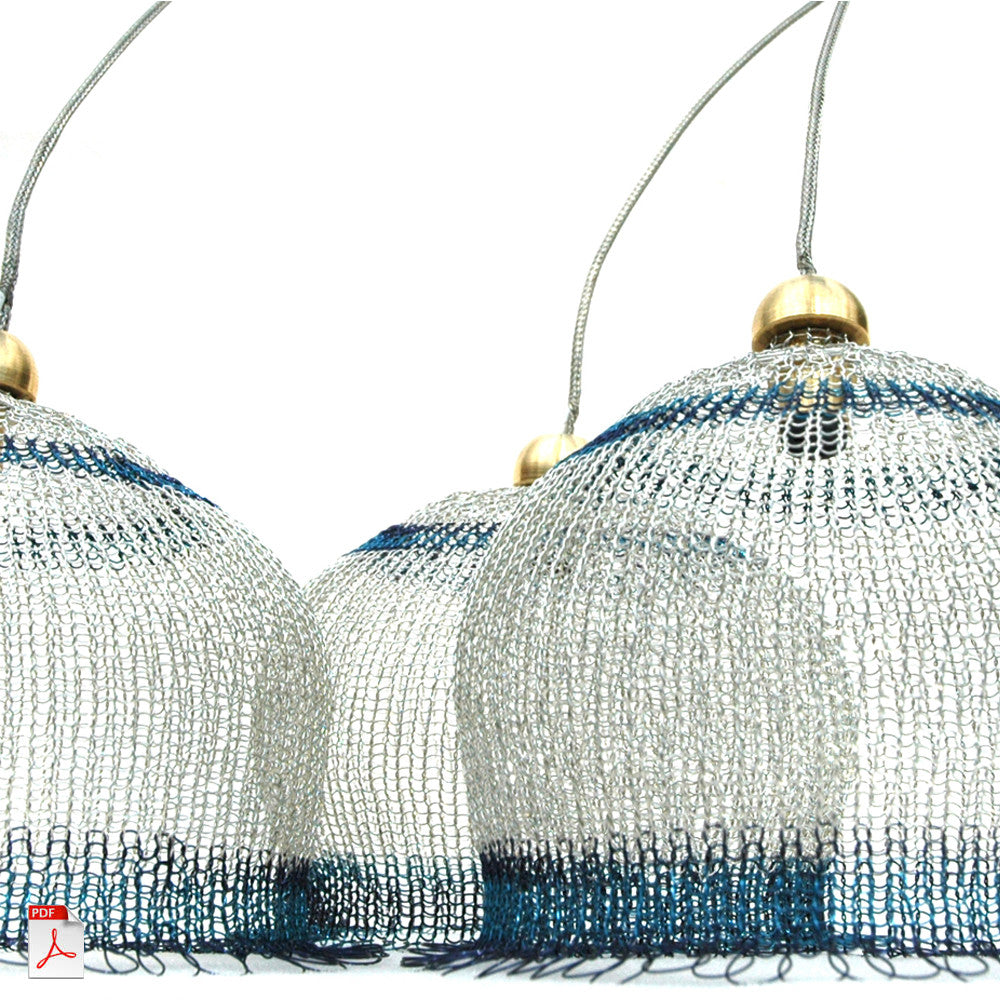 Wire crochet lampshades, PDF pattern tutorial by Yoola - Yooladesign