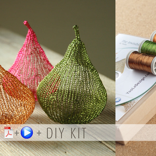 How to wire crochet a Pear - DIY kit - Yooladesign