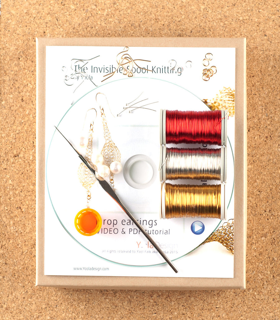 How to wire crochet drop earrings - DIY kit - Yooladesign