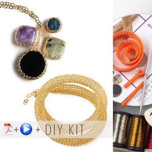 "Yoola ""Sapphire"" DIY Wire Crochet Kit - Potion and Tube, Tutorials and Supplies. - Yooladesign"