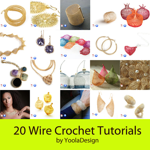 THE FULL 20 wire crochet tutorials pack - June 2016 - Yooladesign