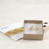pearl ring design in a gift box