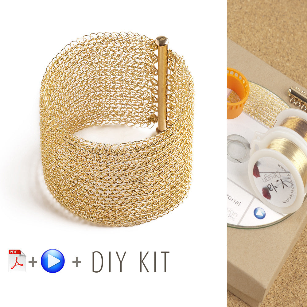 How to crochet wire bracelet, video tutorial , supply and tools ...