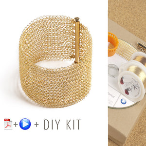 How to crochet wire bracelet, video tutorial , supply and tools - Yooladesign