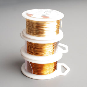 Craft Wire - ALL gold - 3 shades of gold  - Extra long spools - 120 feet each