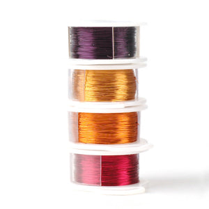 Craft Wire -  Summer 2016 colors - Extra long 4 spools - 120 feet each - Yooladesign