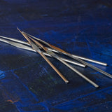 XS crochet hooks , a set of SMALL hooks , wire crochet supply , steel hook size 0.6mm/0.75mm/1.0mm - Yooladesign