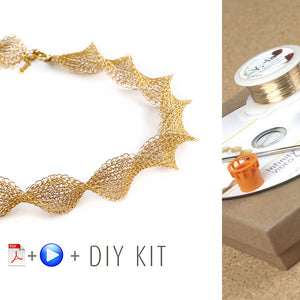 Infinity wire crochet necklace - DIY Kit - Yooladesign
