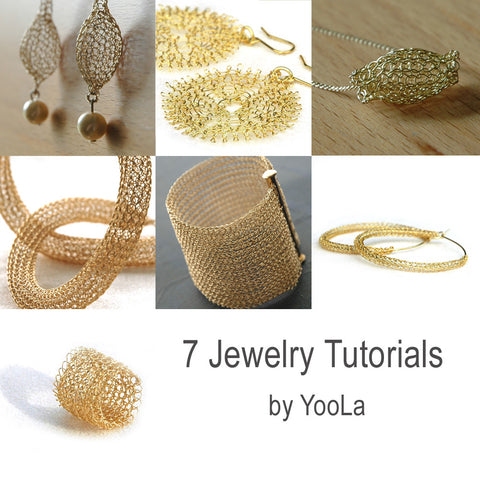 7 PDF jewelry tutorials , Wire crochet patterns - Yooladesign