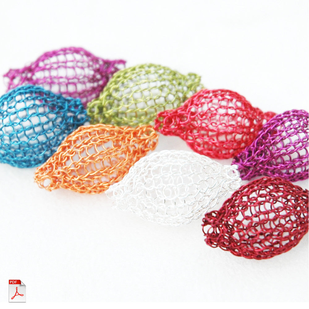 Learn to crochet wire beads , PDF Pattern - Yooladesign