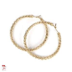 How to crochet hoop earrings, a wire crochet PDF tutorial - Yooladesign