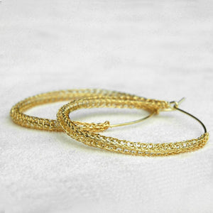Free - how to make hoop earrings - Yooladesign