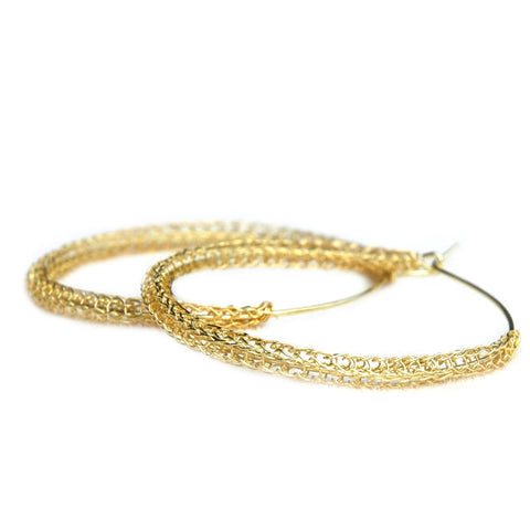 Large Gold hoop earrings , large hoops - Yooladesign
