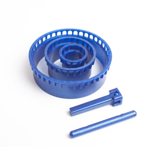 BLUE  Wire crochet looms set, ISK invisible spool knitting starter set , Wire work loom - Yooladesign