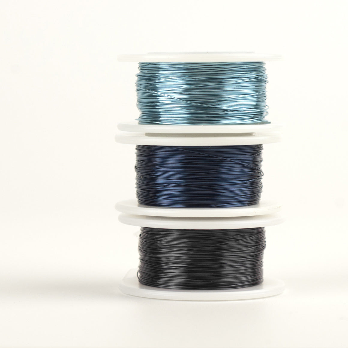 BLUE Craft Wire - 3 Extra long spools - 120 feet each - Yooladesign