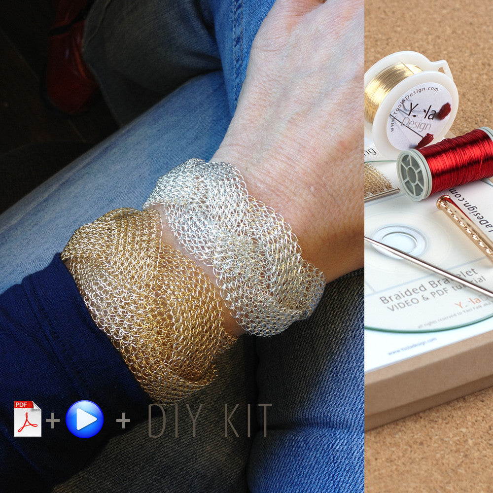 Braided Bracelet Wire crochet Gift Kit - Yooladesign
