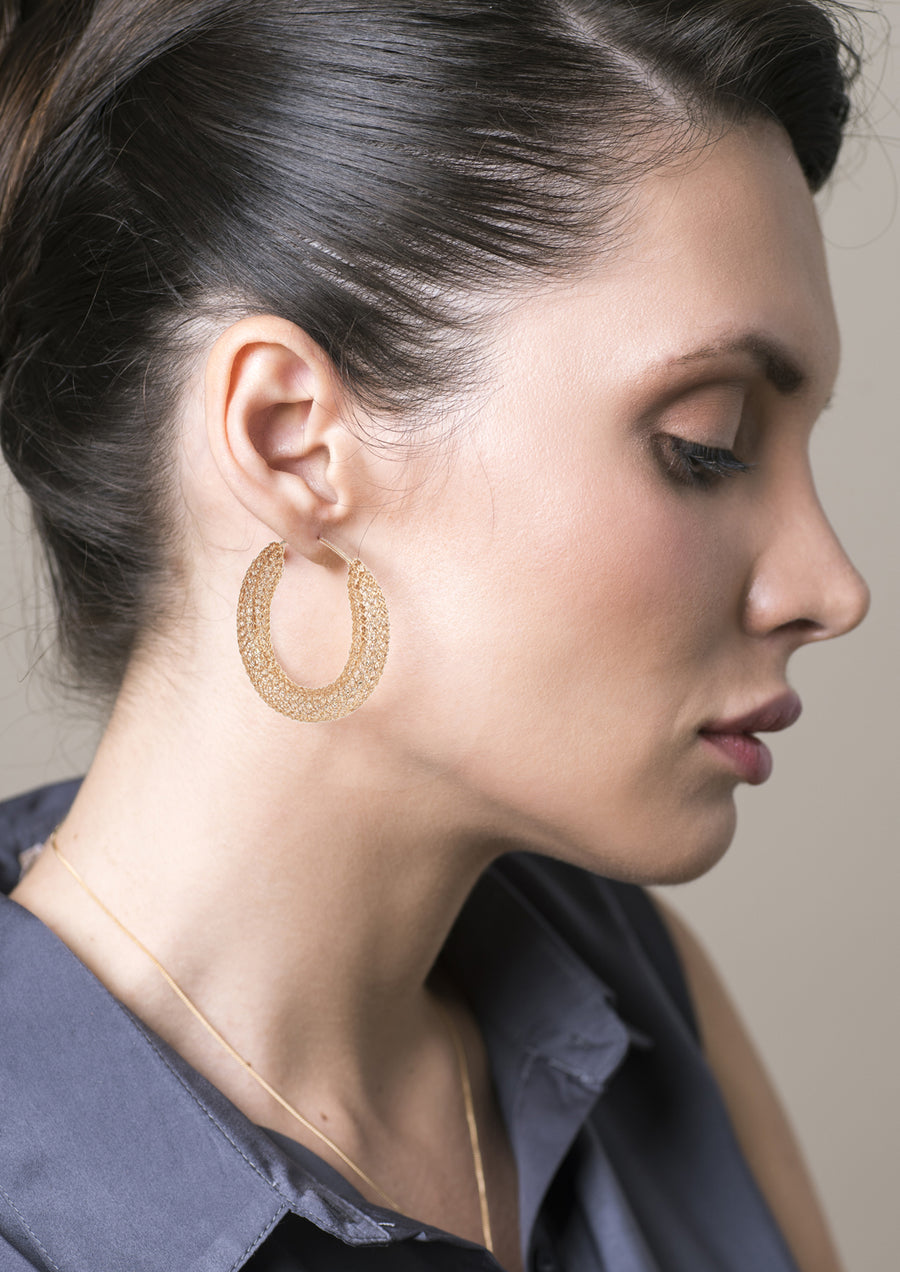 BOLD Large Gold hoop earrings , large hoops - Yooladesign