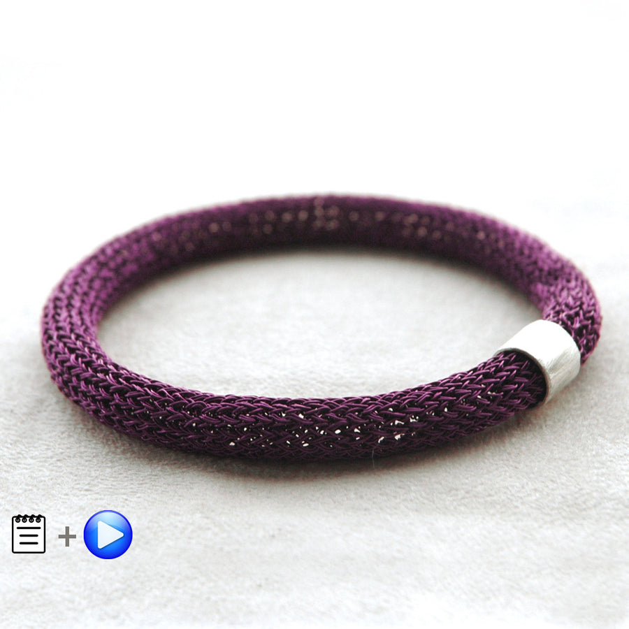 Chunky Bangle Bracelets - Partial Crochet pattern - Yooladesign