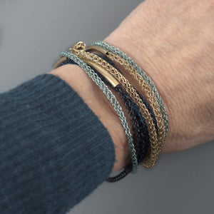 Layering Bracelet  - Wire Jewelry VIDEO pattern - Yooladesign